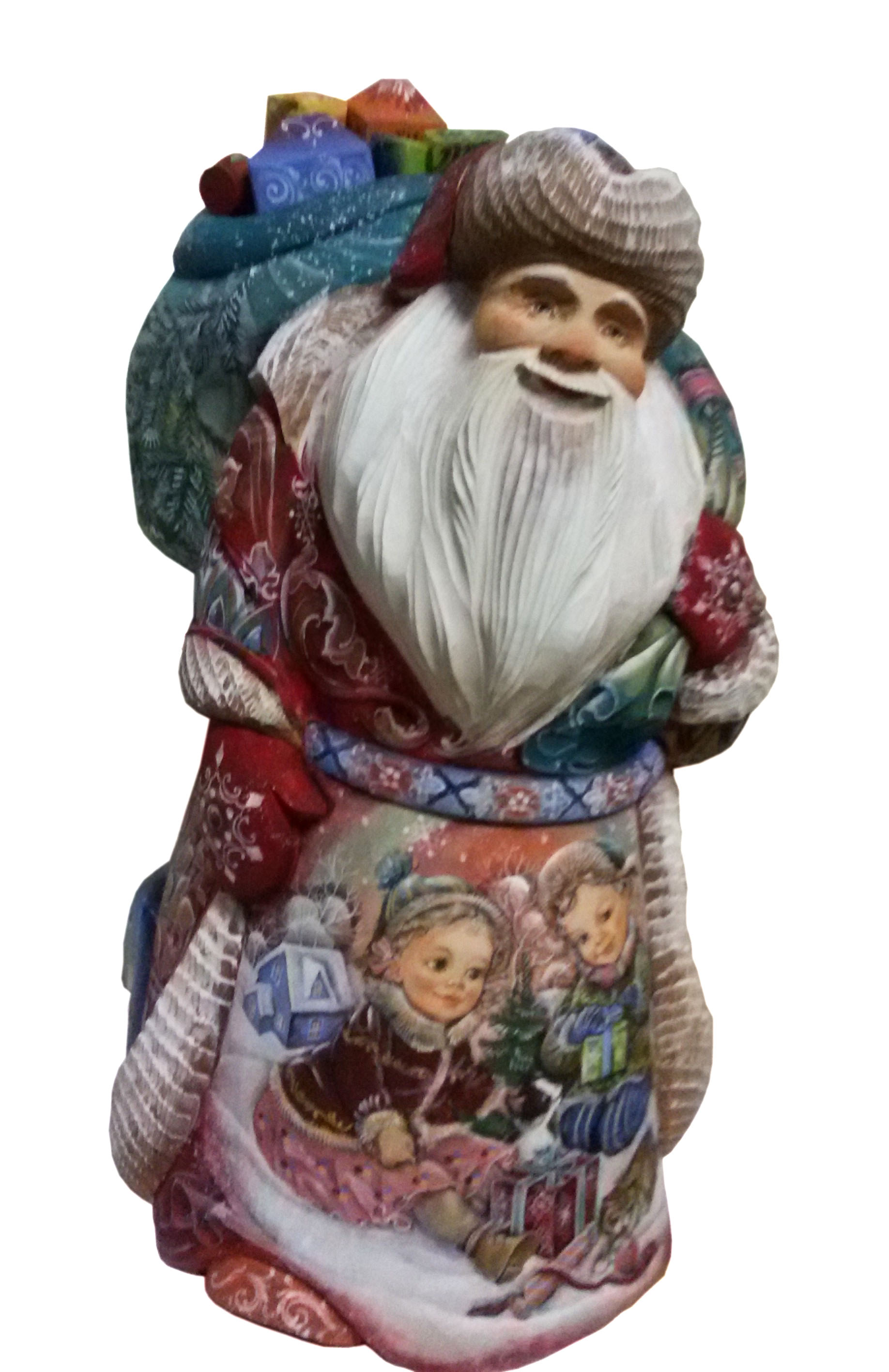 CK_ish100001 Traditionally hand carved of wood from linden tree and hand painted Santa Claus (33-35 cm)
