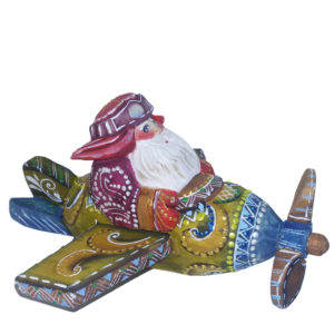 CK_ish11001 Traditionally hand carved of wood from linden tree and hand painted Santa Claus (5 cm)