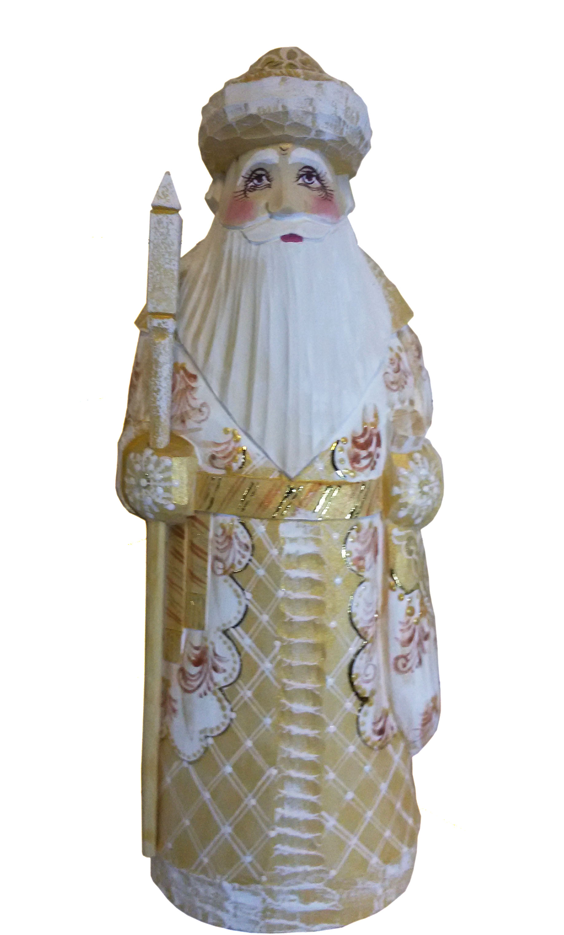 CK_ish15002 Traditionally hand carved of wood from linden tree and hand painted Santa Claus (25-27 cm)