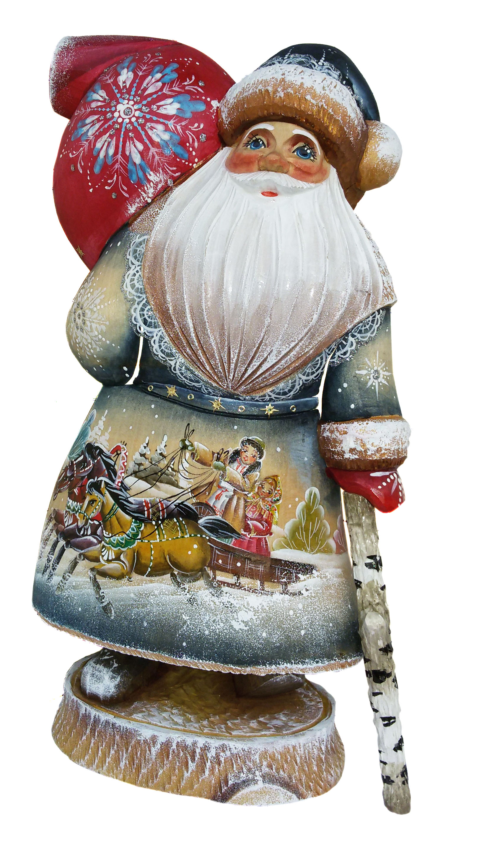 CK_ish18001 Traditionally hand carved of wood from linden tree and hand painted Santa Claus (34 cm)