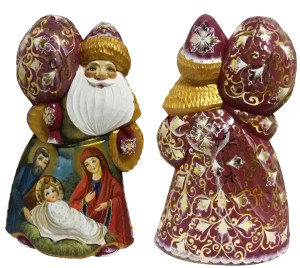 CK_ish20002 Traditionally hand carved of wood from linden tree and hand painted Santa Claus (23 cm)