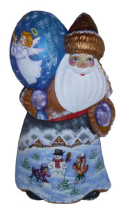 CK_ish20004 Traditionally hand carved of wood from linden tree and hand painted Santa Claus (20-22 cm)