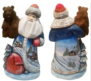 CK_ish25001 Traditionally hand carved of wood from linden tree and hand painted Santa Claus (24cm)