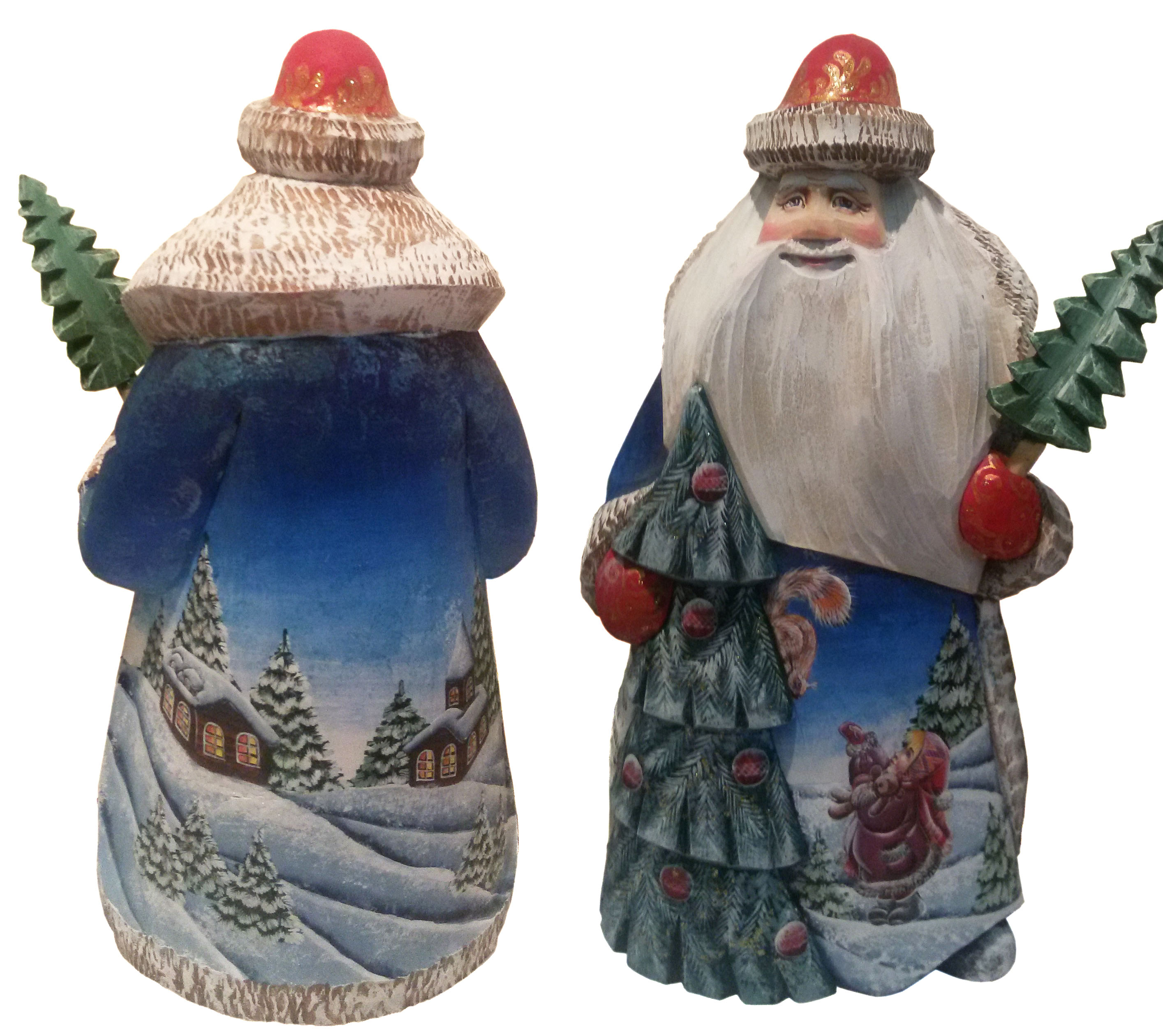 CK_ish25003 Traditionally hand carved of wood from linden tree and hand painted Santa Claus (24 cm)