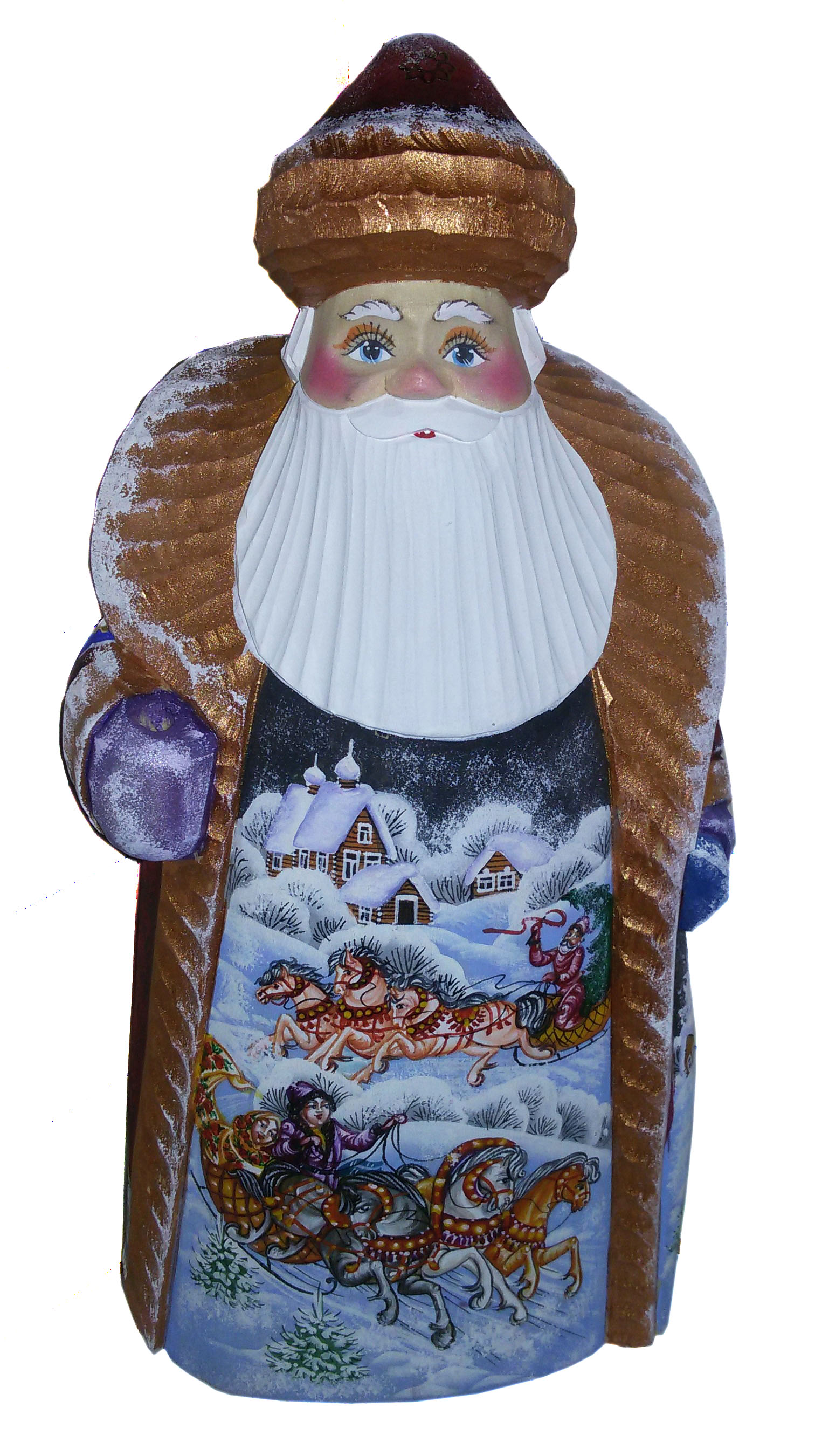 CK_ish25005 Traditionally hand carved of wood from linden tree and hand painted Santa Claus (26 cm)