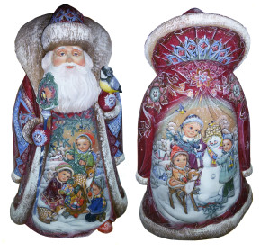 CK_ish250001 Traditionally hand carved of wood from linden tree and hand painted Santa Claus (50-55 cm)