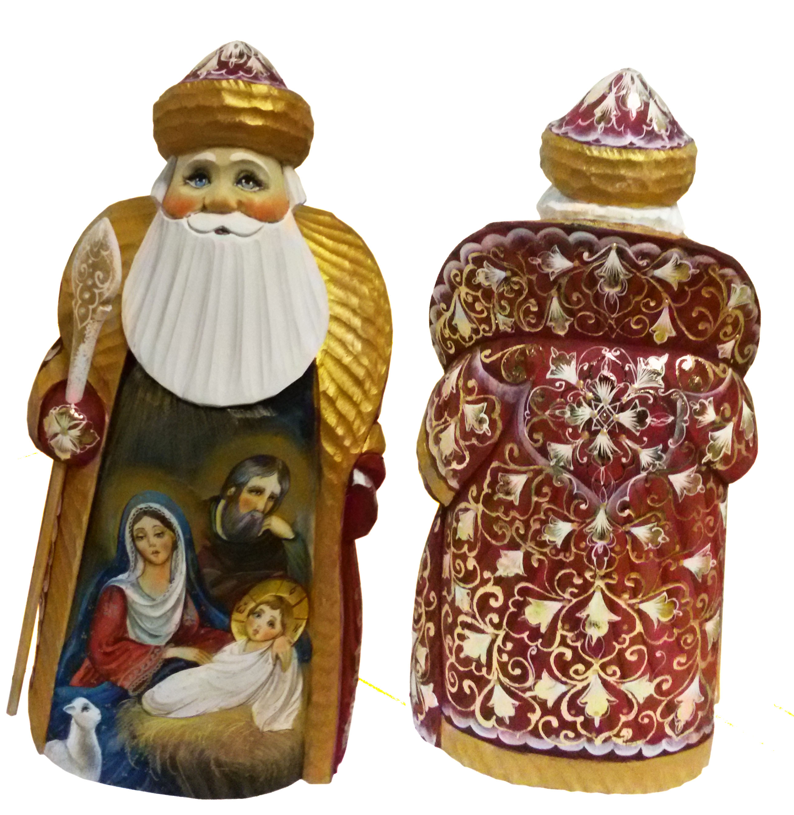 CK_ish27001 Traditionally hand carved of wood from linden tree and hand painted Santa Claus (26 cm)
