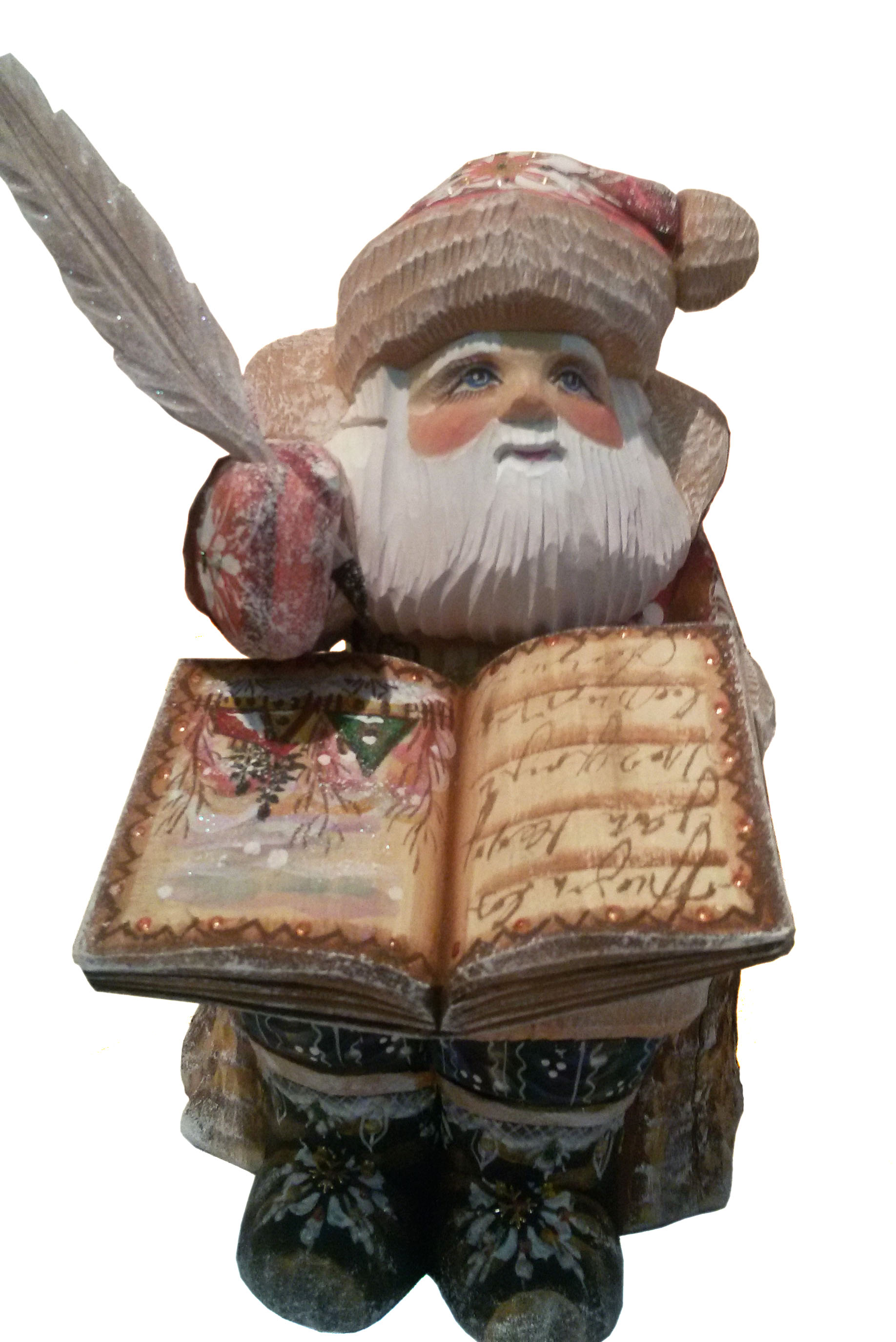 CK_ish28001 Traditionally hand carved of wood from linden tree and hand painted Santa Claus (21 cm)