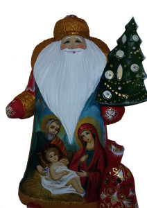 CK_ish30001 Traditionally hand carved of wood from linden tree and hand painted Santa Claus (28-30 cm)