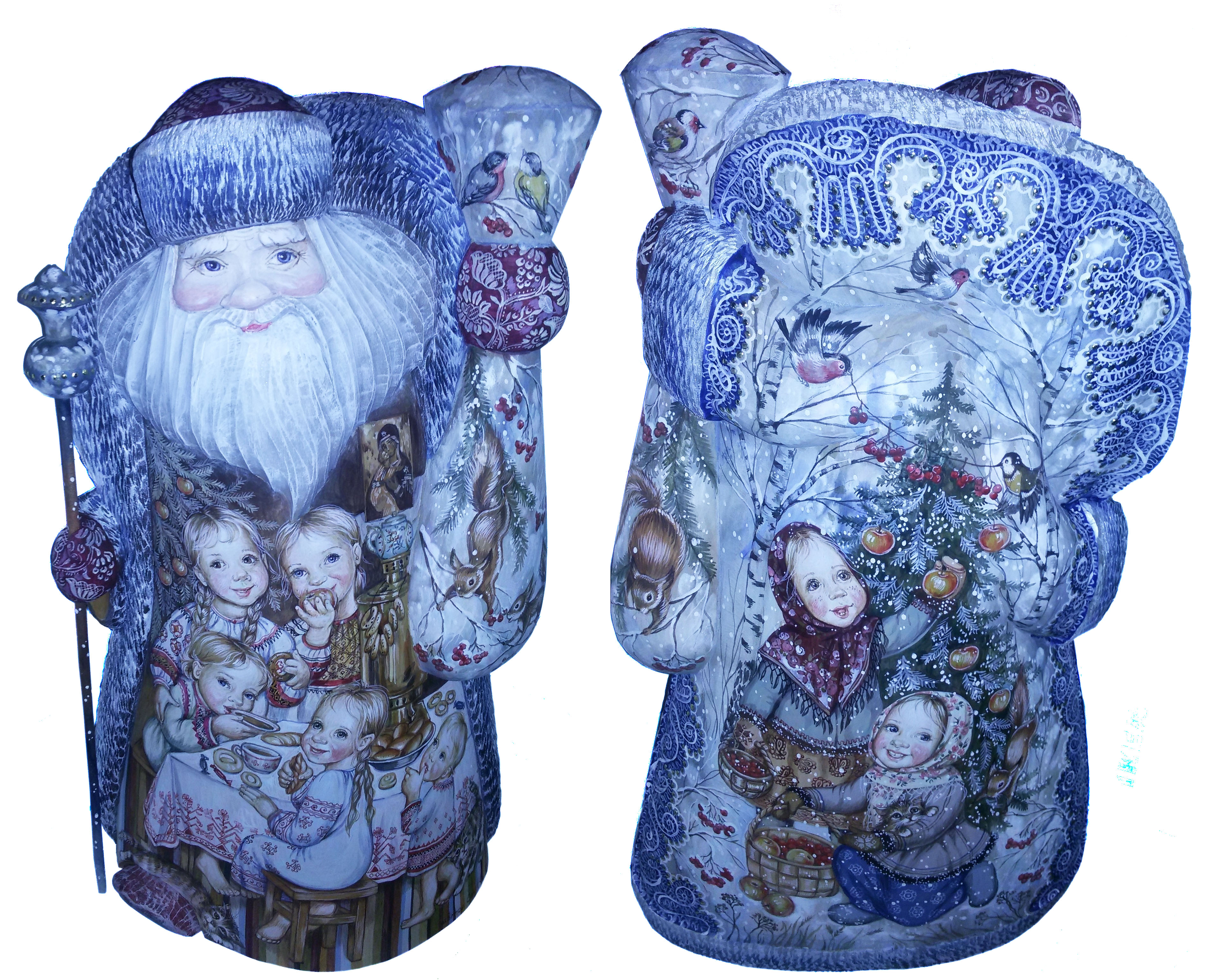 CK_ish300001 Traditionally hand carved of wood from linden tree and hand painted Santa Claus (50-55 cm)