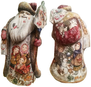 CK_ish350003 Traditionally hand carved of wood from linden tree and hand painted Santa Claus (50-55 cm)