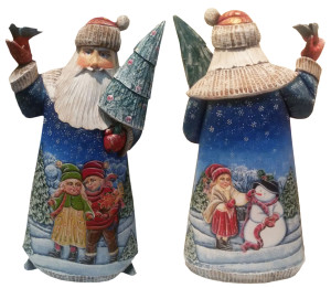 CK_ish50001 Traditionally hand carved of wood from linden tree and hand painted Santa Claus (31 cm)