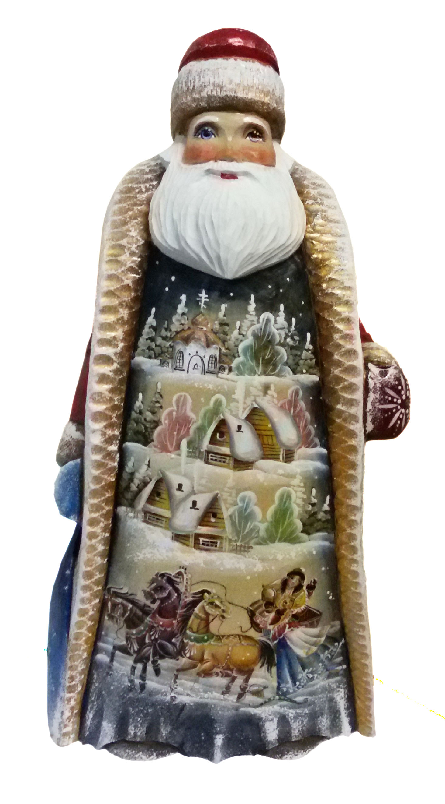 CK_ish55001 Traditionally hand carved of wood from linden tree and hand painted Santa Claus (34 cm)