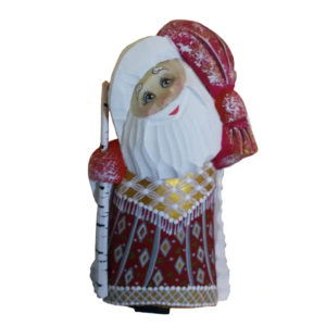 CK_ish6501Traditionally hand carved of wood from linden tree and hand painted Santa Claus (12-14 cm)