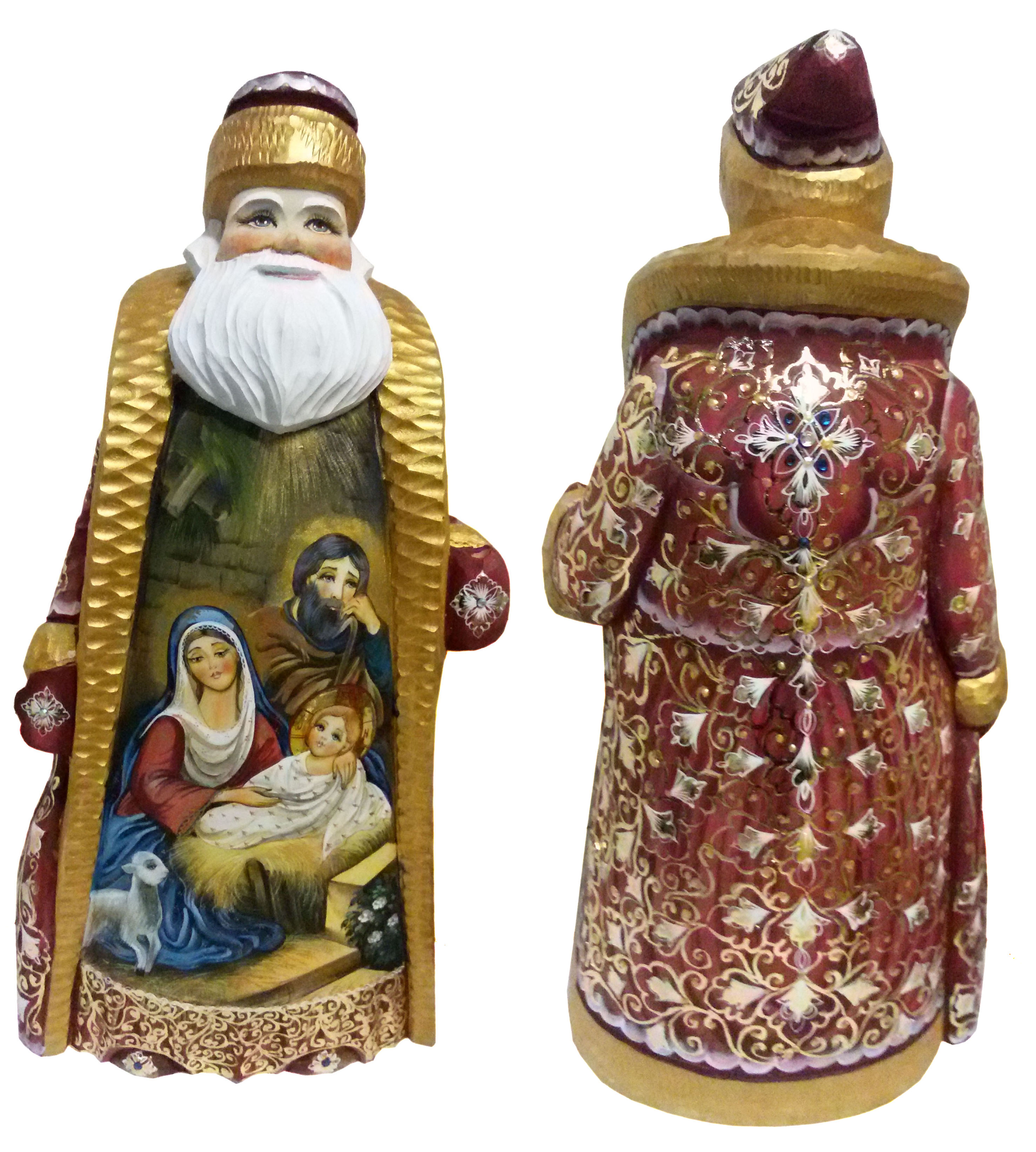 CK_ish65001 Traditionally hand carved of wood from linden tree and hand painted Santa Claus (35-36 cm)