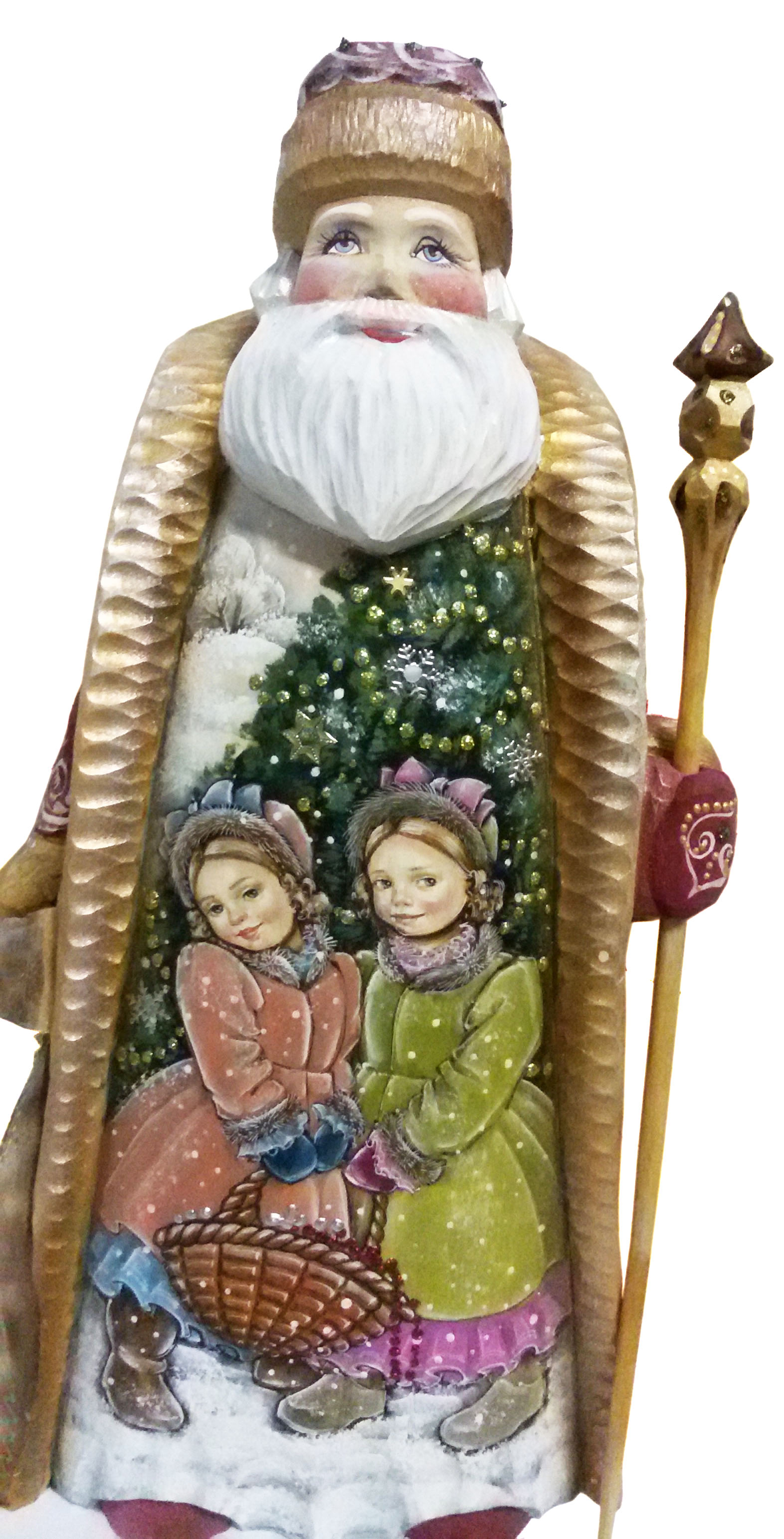 CK_ish65003 Traditionally hand carved of wood from linden tree and hand painted Santa Claus (35-36 cm)