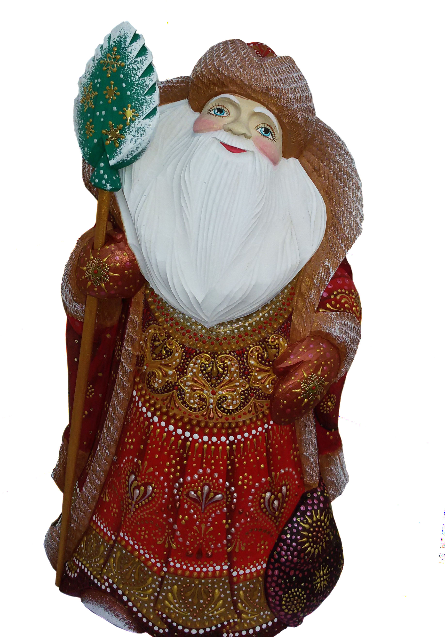 CK_ish70001 Traditionally hand carved of wood from linden tree and hand painted Santa Claus (34 cm)
