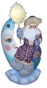 CK_ish80001 Traditionally hand carved of wood from linden tree and hand painted Santa Claus (45-50 cm)