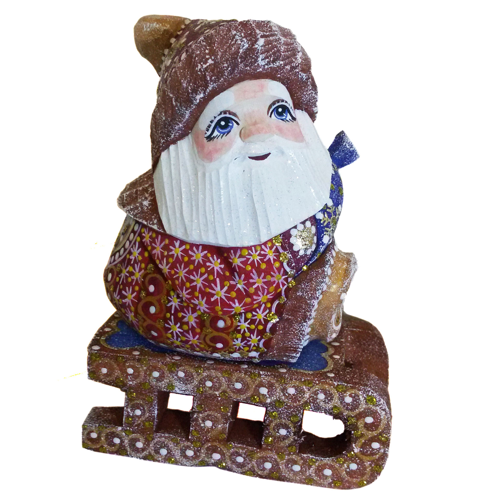 CK_ish8501Traditionally hand carved of wood from linden tree and hand painted Santa Claus (12-14 cm)