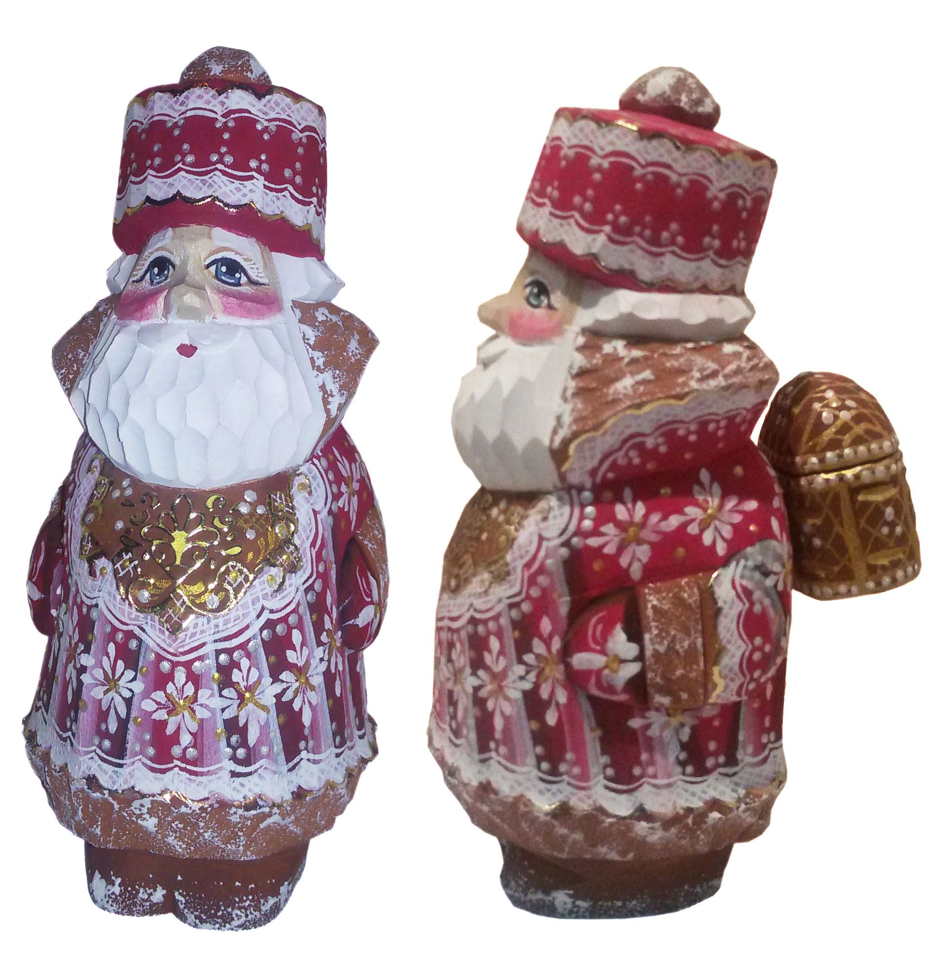 CK_ish8502 Traditionally hand carved of wood from linden tree and hand painted Santa Claus (15-16 cm)
