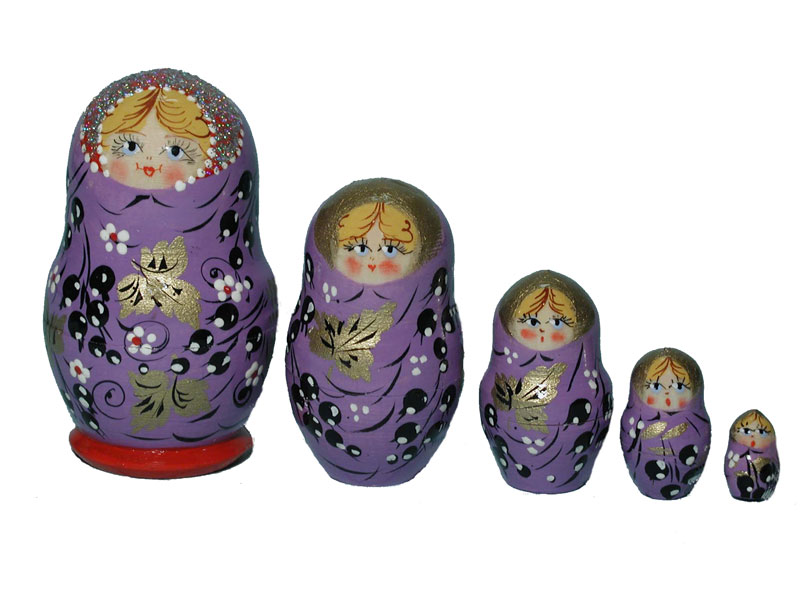 AB5a24b Flower matrioshka 5-set «small» (h 7-8 cm)