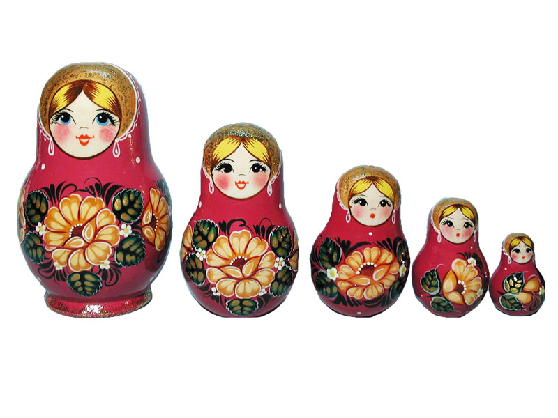 AV5Gr4bb Matrioshka 5-set «Grushenka» (h 14 cm)
