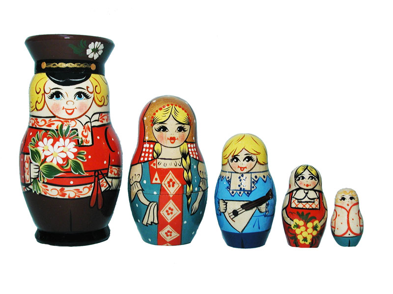 Art: AV5ns1 Matrioshka 5-set «National suit» (h 11 cm)