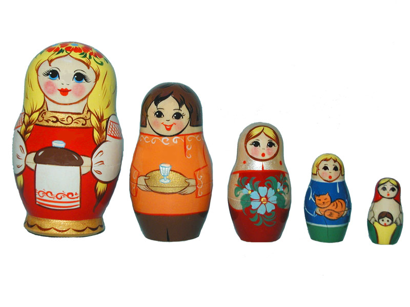 Art: AV5ns2 Matrioshka 5-set «National suit» (h 11 cm)