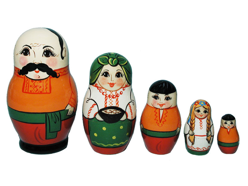Art: AV5ns5 Matrioshka 5-set «National suit» (h 11 cm)