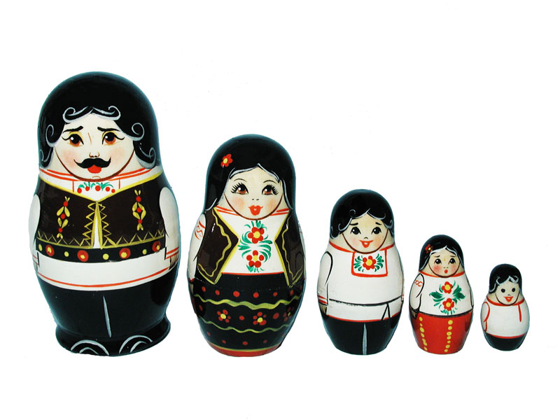 Art: AV5ns7 Matrioshka 5-set «National suit» (h 11 cm)
