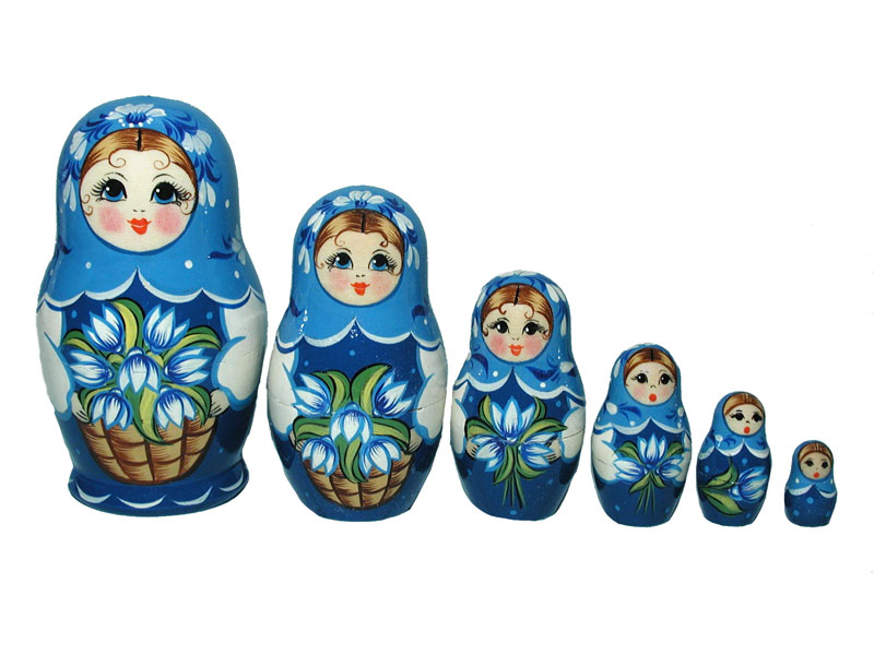 Art: AV6A2b Matrioshka 6-set «Seasons» (h 11 cm)