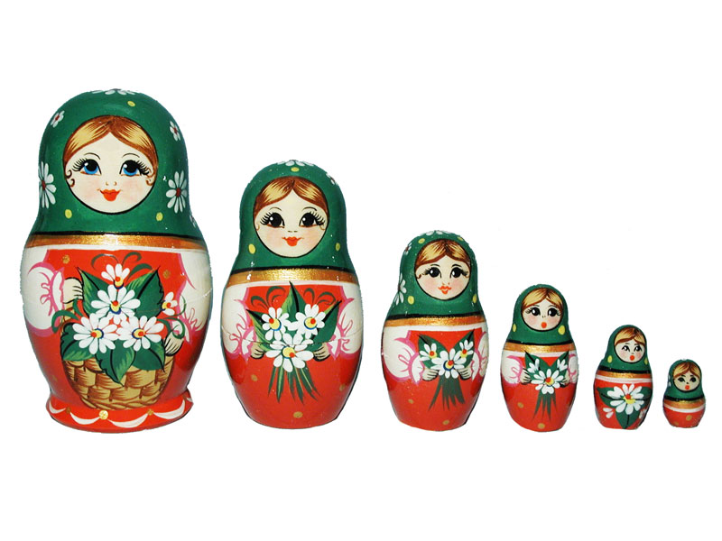 Art: AV6A3b Matrioshka 6-set «Seasons» (h 11 cm)