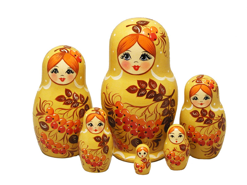 AV6A4b Matrioshka 6-set «Seasons» (h 11 cm)