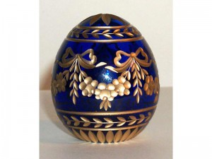 Crystal Faberge styled eggs