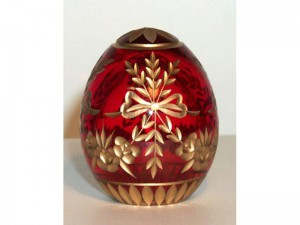 M54r0 Faberge styled crystal egg is hand engraved and covered with gold (sizes: 10cm, 8cm, 6cm), colours: blue, red,green, transparent