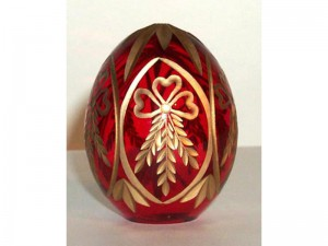 M88r0 Faberge styled crystal egg is hand engraved and covered with gold (sizes: 10cm, 8cm, 6cm), colours: blue, red,green, transparent